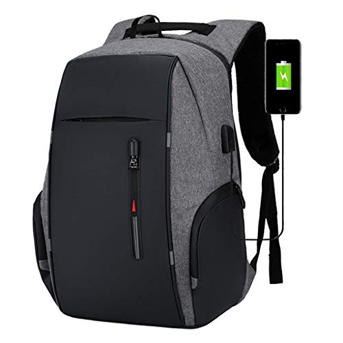 Business Travel Laptop Backpacks, Large Water Resistant Business Computer Bag with USB Charging Port Durable School Bookbag Computer Bag for Men Women Fits 17.3 Inch Laptop,C