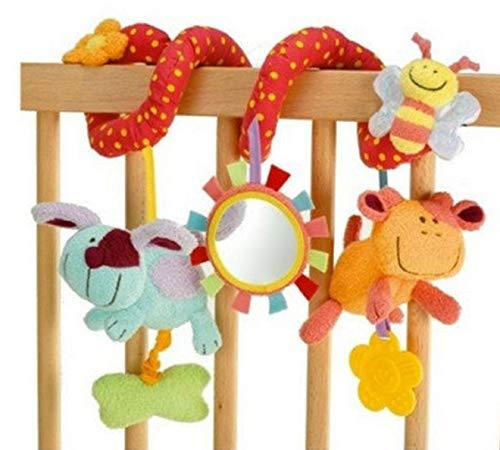 beb/és los juguetes colgantes asiento infantil de coches Cochecito Juguetes Cama mxdmai Perro del beb/é Peque/ño traqueteo de la felpa del beb/é del pesebre Juguete Desarrollo Actividad reci/én nacidos