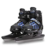<span class='highlight'>Kup</span>e Adjustable Ice Skates for Boy and Grils, Ice Skate Shoes for Children Adult Beginner Ice Ice Skate Blade Thickened Speed Skating Shoes Warm,Blue,M