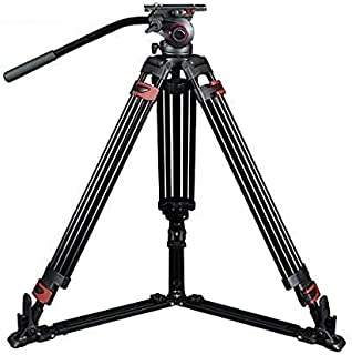 miliboo MTT601A Ground Level Professional Photography 3 Sections Tripod Stand Aluminum Alloy with 360 Panorama Fluid Hydra...