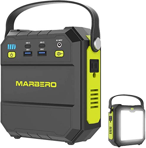 Portable Power Station, 83Wh Solar Generator 22500mAh Camping Lithium Battery Emergency Power Station with AC Outlet 4 USB Ports, Power Supply with Super Bright Flashlight for Camping Outdoor Home (Green)