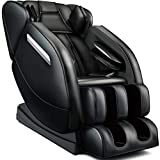 FOELRO Full Body Massage Chair,Zero Gravity Shiatsu Recliner with Air Bags,Back Heater,Foot Roller and Blue-Tooth Speaker,Black