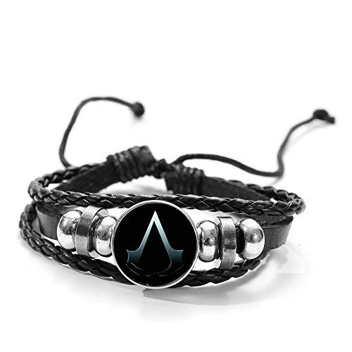 Armband aus Leder und Glas Logo Assassin's Creed