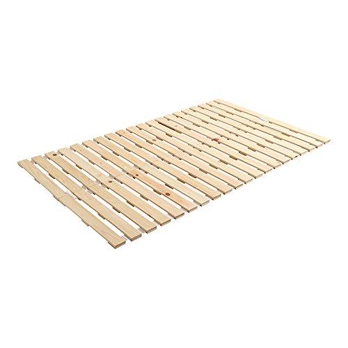 ヒノキのすのこベッド すのこマット セミダブル ロール式 檜 木製 湿気対策 スノコ オールシーズン使えるすのこベッド 梅雨や冬の時期にも 省スペース フロアベッド ローベッド