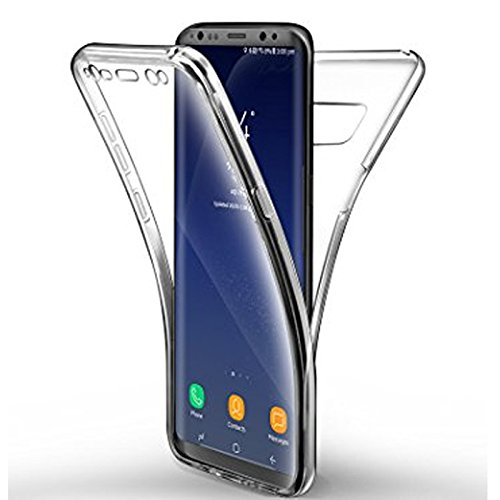 Mb Accesorios Samsung Galaxy Samsung S8 Plus Funda DE Silicona Delantera + Trasera Doble 100% Transparente