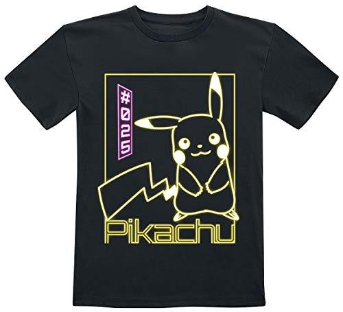 Pokémon Pikachu - Neon Unisex T-Shirt schwarz 146