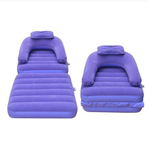 KAISIMYS Single Flocked Inflatable Sofa Bed Mattress With Foot Air Pump,Backrest And Pillow Portable Foldable For Indoor Outdoor Travel Camping