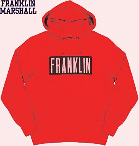Franklin & Marshall Sudadera para hombre con capucha, garzata FLMF278XMW17 Patrol Red