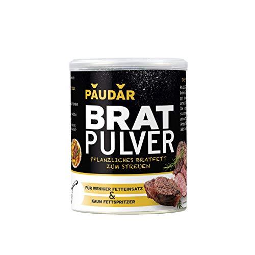 PAUDAR Bratpulver 8 x 125g | Vegan, leicht dosierbar | Reduziert Fettspritzer, fettarme Zubereitung von Fisch, Fleisch, Gemüse [Die Höhle der Löwen]