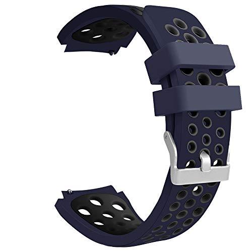 riou Electrónica Riou_Correa para Reloj,para el Reloj Compatible con Samsung Galaxy 46mm Banda de la Correa de la Pulsera del silicón de los Deportes del Doble Color Pulseras de Repuesto
