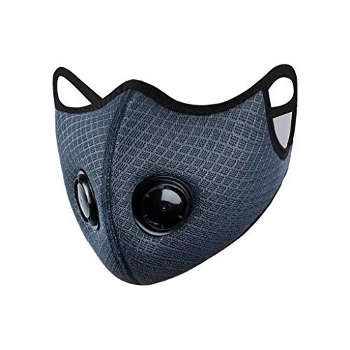 GUNGUN Mascarillas de Tela Lavables Reutilizables3 Capas Algodón Blanco Ajuste Doble elástico Máscara Antipolvo para la Boca,  Reutilizable,  Lavable,  Unisex,  Color Negro 1PC+5PC