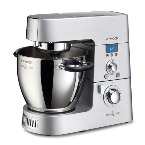 Kenwood Cooking Chef KM 070 Küchenmaschine / Induktions-Kochsystem / 8 Geschwindigkeitsstufen / inkl. Dampfgareinsatz , Mixaufsatz, Multi-Zerkleinerer und verschiedenen...
