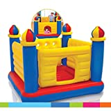 vwretails inflatable jump-o-lene ball pit castle bouncer 69' x 69' x 53'(1.75m x 1.75m x 1.35m) for 2-6 yrs- Multi color