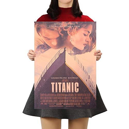 Plakat-Titanic Classic Movie 50X35Cm/Aufkleber/Durchbruch/Selbstklebendes Wandbild/Wandsticker/Stein/Wanddurchbruch/Wandaufkleber/Tattoo
