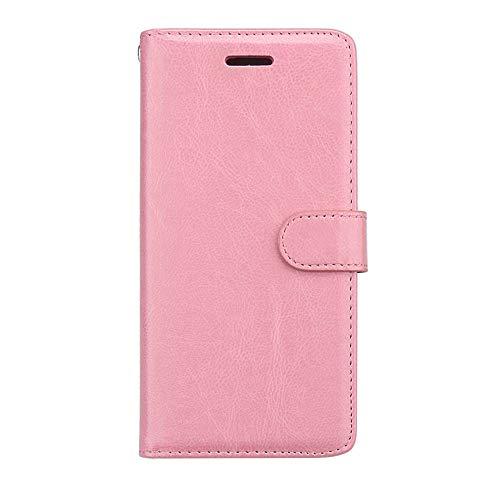 Capa para Xiaomi Redmi 6 Pro/Xiaomi Mi A2 Lite Capa de couro PU proteção 3 compartimentos para cartão carteira flip capa rosa