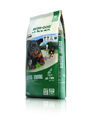 BEWI DOG Basic Menue [25 kg] Hundefutter | Trockenfutter für normal aktive Hunde | ohne Weizen & Soja | für erwachsene Hunde aller Rassen