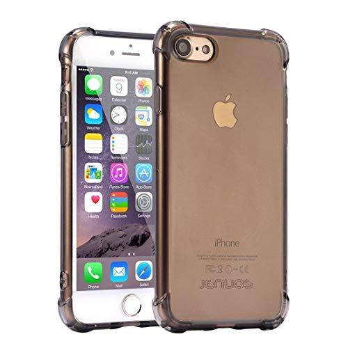 Jenuos iPhone SE 2020 Hülle, iPhone 8/7 Handyhülle Hülle, Transparent Handyhülle Durchsichtige Silikon Schutzhülle TPU Bumper Case für iPhone 8 und iPhone 7 und SE 2020 4.7