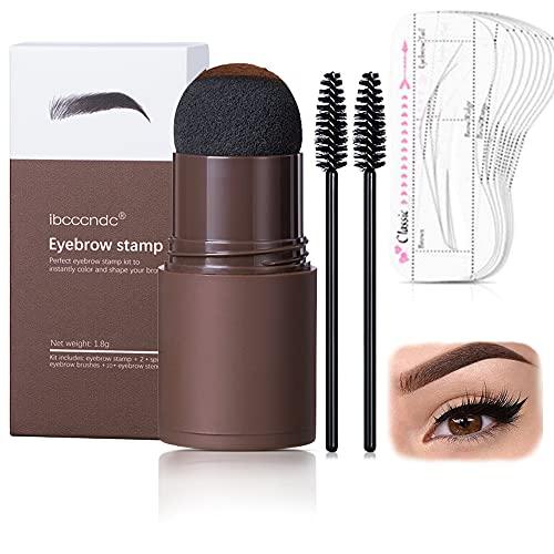 Augenbrauen Stempel, Brow Stamp Brauenpuder Schablonen Kit, Eyebrow Stamp, Augenbrauen-Stempel-Puder Wasserdicht, mit Wiederverwendbaren Augenbrauen-Schablonen-Make-up-Tools
