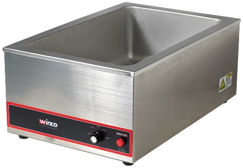 Winco FW-S500 Commercial Portable Steam Table Food Warmer 120V 1200W,Stainless Steel,Large