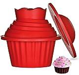 ZSWQ Große Cupcake Backform Extra XXL Muffinform Giant Cupcakes Silikon Form für Torten, Muffins und Deko