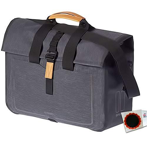 Basil Urban Dry Business Bag Charcoal Melee Fahrrad Packtasche + Flicken