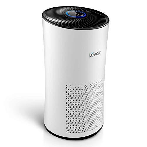 Levoit Luftreiniger mit H13 HEPA Luftfilter CADR 400m³/h, bis zu 95m², Air Purifier mit Luftqualitätssensor Auto Schlafmodus Timer, gegen Staub Pollen Geruch, für Allergiker Raucher Tierbesitzer