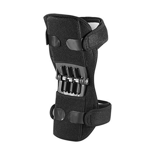 LKSPD Qxdzswb Protector de Rodilla Conjunto de Apoyo Rodilleras Transpirable Antideslizante Pad Power Lift Rodilla de Rebote Primavera Fuerza Rodilla Booster Leg Protector (Color : 1pcs)