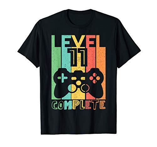 11 Geburtstag Geschenk - Level 11 Komplett Shirt Video Gamer T-Shirt