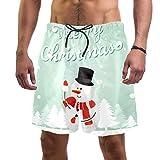 Anmarco Traje de baño de Navidad con diseño de muñeco de nieve y pinos de secado rápido para hombre ...
