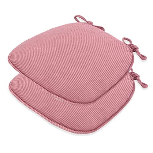 H.Q Pastillas de Silla for sillas de Comedor-Cocina Comedor con Silla de jardín Almohadillas de Asiento de cojín-Nonslip Padilla de Cocina con Corbatas (Conjunto de 2) Cojines (Color : Color 5)