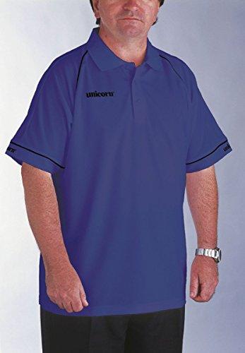 Unicorn Match Dart Shirt in blau Polo-Hemd mit Strick Kragen Gr.M