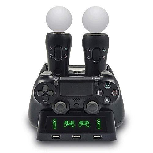 Controlador PSVR Cargador Controlador PS4 VR de Doble Carga Controlador Asiento Doble Cargador Controlador Playstation Move Base de Carga Base de Carga Cuatro en uno Base del Cargador.