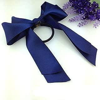 MOPOLIS Womens Lady Scrunchie Ponytail Holder Bowknot Bow Ribbon Hair Band Rope New UK   Colors - Navy