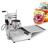 CGOLDENWALL Máquina de Buñuelos 6kw Máquina de Hacer Rosquilla Automático con 7.5L Clindro de Material & 25L Freidora丨TRES Moldes de Donuts NP-7
