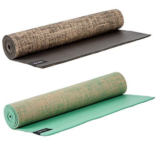 Sternitz Tappetino da Yoga ó Pilates Antiscivolo - Trapuntato - Ecologica - Trasportabile. (Pack Trinity - Harmony)