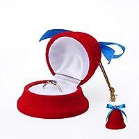 NUIOsdz グリーンクリエイティブクリスマスラグジュアリーダイヤモンドリングジュエリーパッケージボックス女性用ジュエリーイヤリングホルダー21スタイルあり