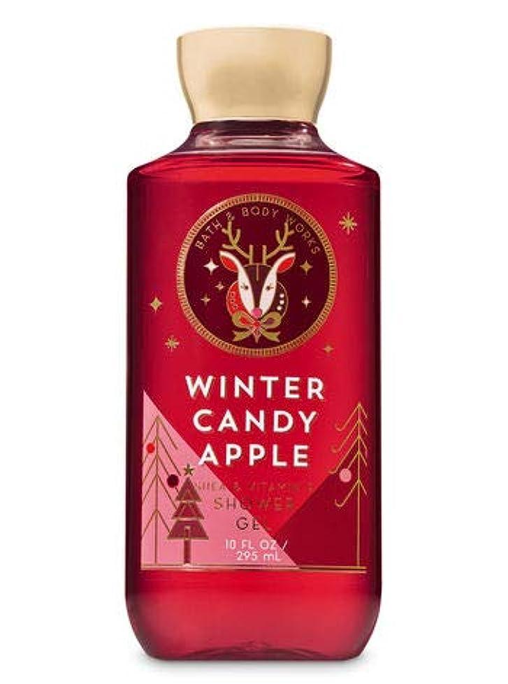 クレジット方言より平らな【Bath&Body Works/バス&ボディワークス】 シャワージェル ウィンターキャンディアップル Shower Gel Winter Candy Apple 10 fl oz / 295 mL [並行輸入品]