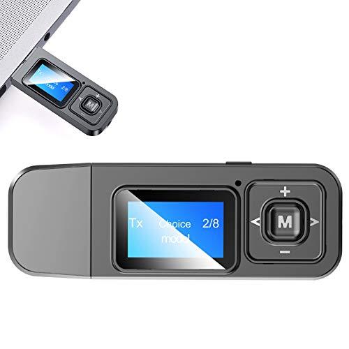 KAKAKE Transmisor Bluetooth, reducción de Ruido HiFi Calidad de Sonido Material ABS Comodidad Receptor Bluetooth para el Trabajo