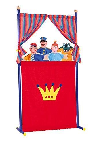 Simba 104586783 - Puppentheater mit 4 Handpuppen, 132 cm