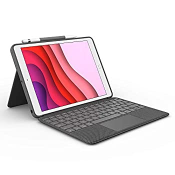 Logitech Combo Touch for iPad  7th and 8th Generation  Keyboard case with trackpad Wireless Keyboard and Smart Connector Technology – Graphite