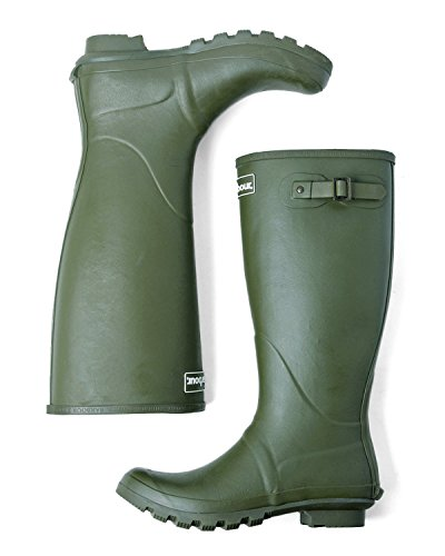 Barbour バブアー MRF0010 BEDE(ビード) WELLINGTON BOOT (レインブーツ) (UK7 (25.5cm), OLIVE)