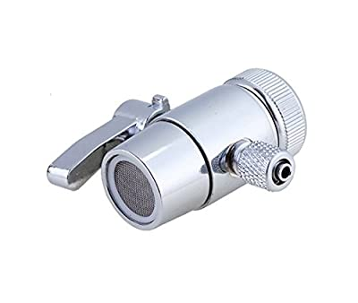 PureSec 2019 Replacement Diverter Valve 1/2 inch Female Thread Kitchen Sink Water Faucet Tap for Countertop water Filter