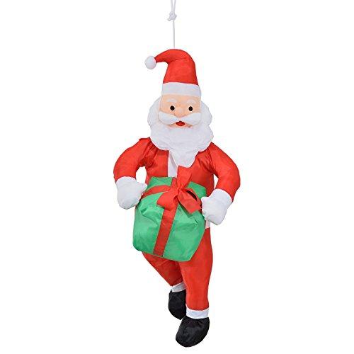 LD decorazioni di Natale Babbo Natale Sulla Corda 90cm decorazione natalizia Babbo Natale testa figura