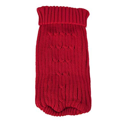 CWYPWDY Pet Kleidung Kleiner Hund Winter verdrehte Pullover Rollkragenpullover häkeln Pullover Pullover Winter Hundebekleidung
