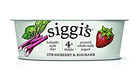 Siggi's Icelandic Milk and Skyr Whole Milk Yoghurt, Strawberry Rhubarb, 4.4 oz