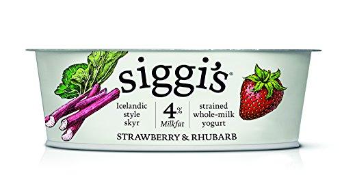 Siggi's Icelandic Milk and Skyr Whole Milk Yoghurt, Strawberry Rhubarb, 4.4 oz