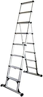 Telesteps 12ES OSHA Compliant 12 ft Reach Professional Wide Step Telescoping A-frame Ladder