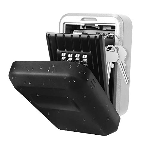 Yissvic Schlüsseltresor Schlüsselsafe Schlüsselbox Key Garage mit 4-Stelliger Zahlencode Wetterfest (Verpackung MEHRWEG)