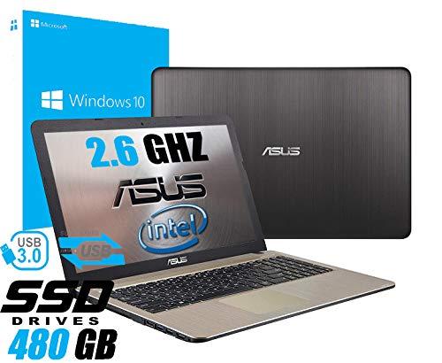 Notebook Asus Vivobook Portatile Pc Display da 15.6' Cpu Intel Dual Core Up To 2.60Ghz /Ram 4Gb /SSD 480GB/Graphics UHD600/Hdmi Masterizzatore Wifi Bluetooth/Windows 10 professional+open office