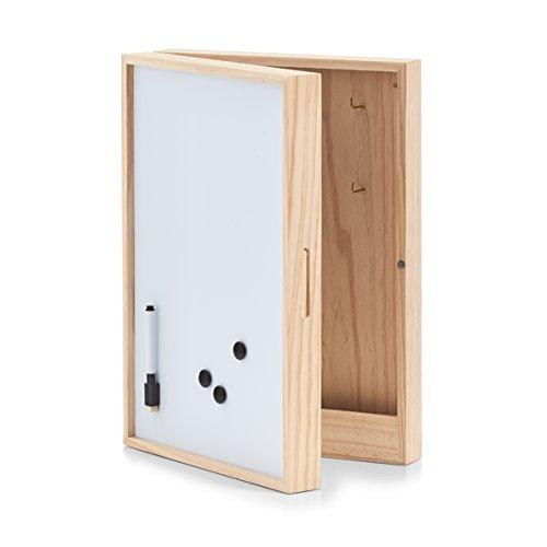 Zeller 15142 Schlüssel-/Memo-Box m. Whiteboard, Holz, ca. 30 x 8 x 42 cm